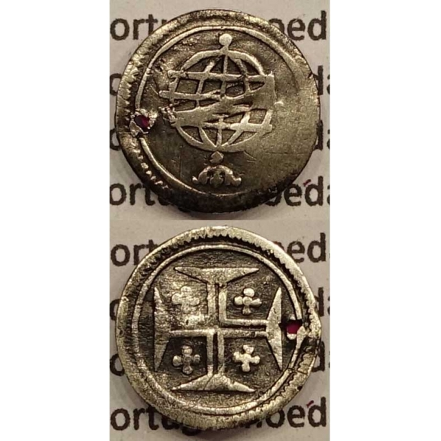 MOEDA VINTÉM PRATA 1706-1750 (BC) - D.JOÃO V