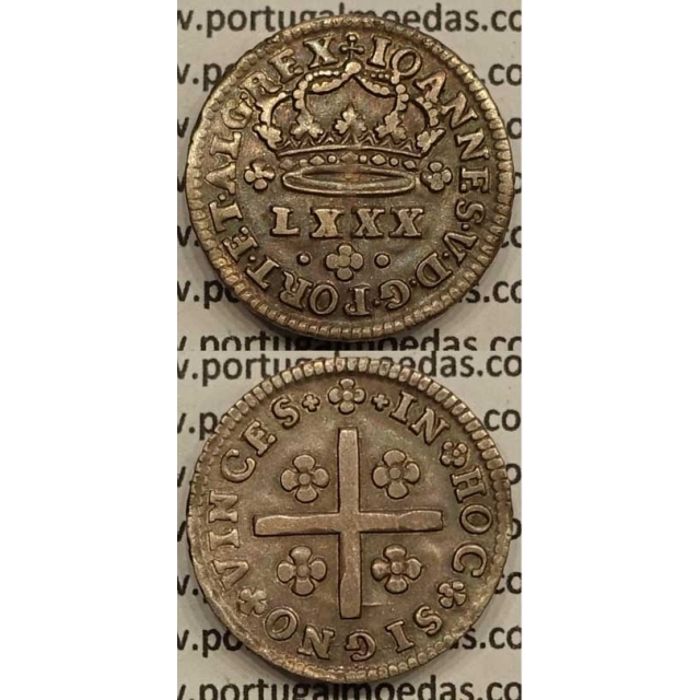MOEDA TOSTÃO PRATA 1706-1750 (MBC) - D.JOÃO V