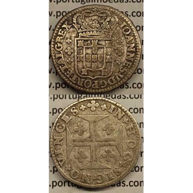 MOEDA 6 VINTÉNS PRATA 1706-1750 (MBC-) - MODULO MENOR - D.JOÃO V