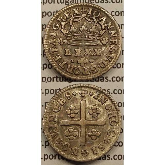 MOEDA TOSTÃO PRATA 1706-1750 (MBC+/BELA) - D.JOÃO V