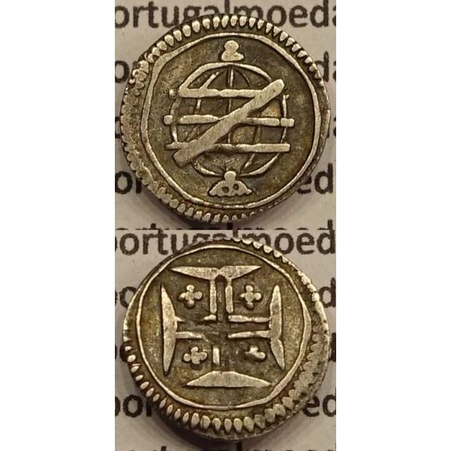 MOEDA VINTÉM PRATA 1706-1750 (MBC) - COM SERRILHA - D.JOÃO V