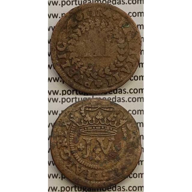 MOEDA III RÉIS COBRE 1714 (BC) - D.JOÃO V