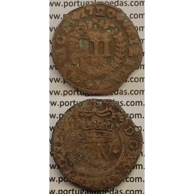 MOEDA III RÉIS COBRE 1720 (BC-) - D.JOÃO V