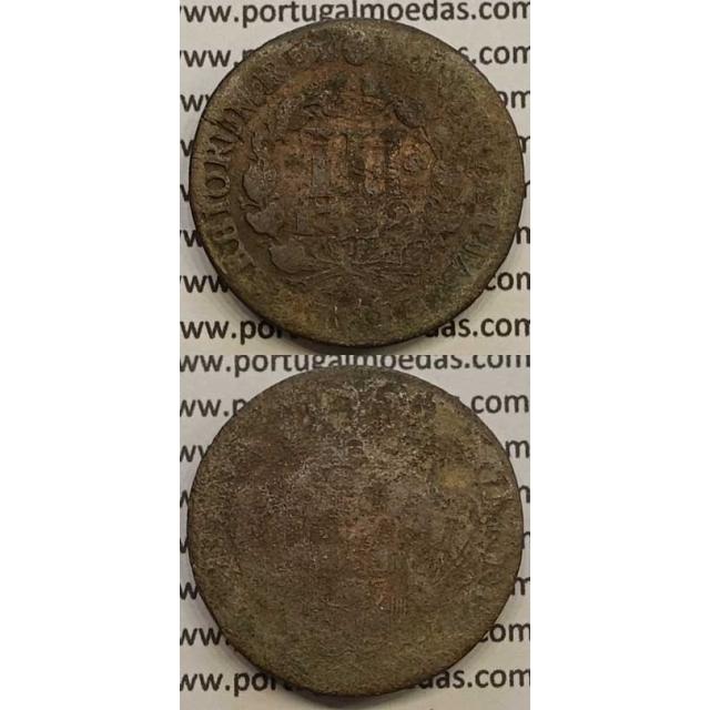 MOEDA III RÉIS COBRE 1732 (REG) - D.JOÃO V