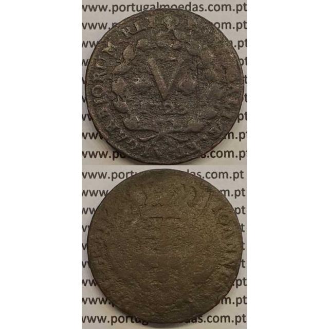 MOEDA V RÉIS COBRE 1723 (BC) - D.JOÃO V