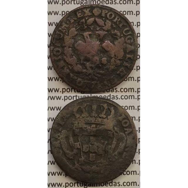 MOEDA V RÉIS COBRE 1728 (BC-/REG) - D.JOÃO V