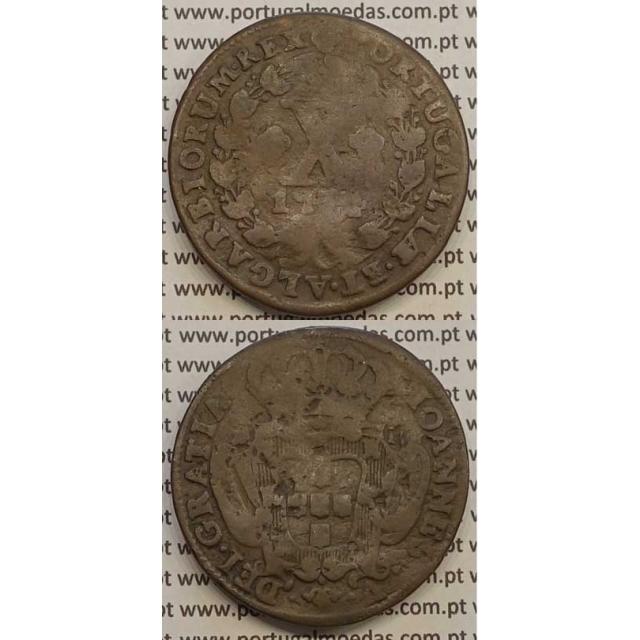 MOEDA X RÉIS COBRE 1734 (REG) - D.JOÃO V