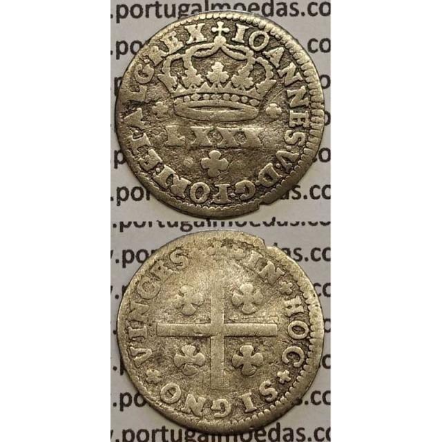 MOEDA TOSTÃO PRATA 1706-1750 (BC+) - D.JOÃO V