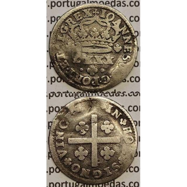 MOEDA TOSTÃO PRATA 1706-1750 (BC-) - D.JOÃO V