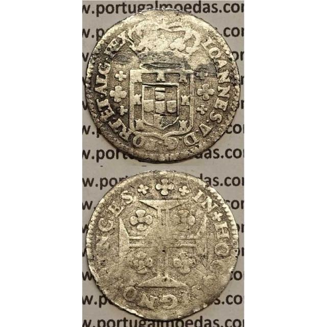 MOEDA 6 VINTÉNS PRATA 1706-1750 (BC-) - LEGENDA SOBRE A COROA - D.JOÃO V