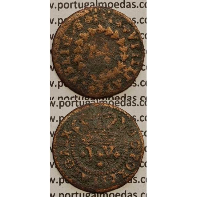 MOEDA DE REAL E MEIO COBRE 1714 (REG) - D. JOÃO V