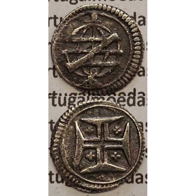 MOEDA VINTÉM PRATA 1706-1750 (MBC) COM SERRILHA - D.JOÃO V
