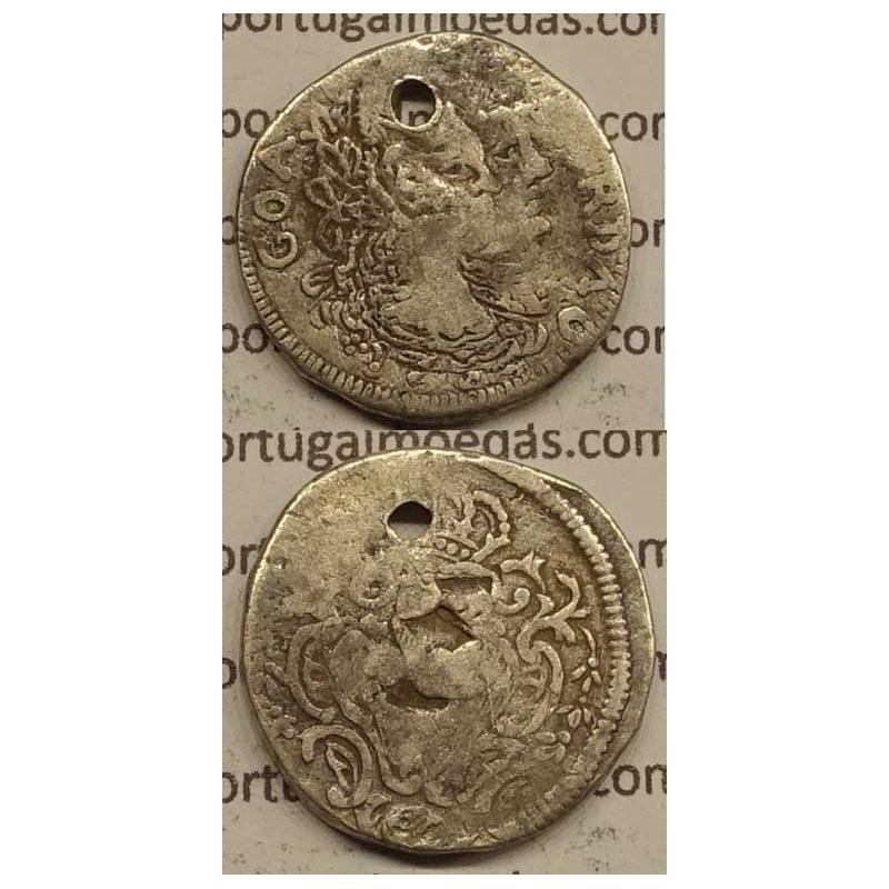 PARDAU (300 RÉIS) PRATA 1782 (BC-) INDIA - D.MARIA I E D.PEDRO III