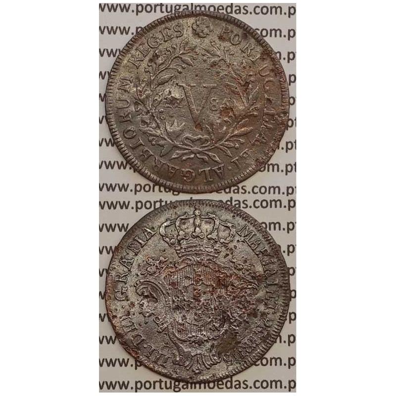 MOEDA V REIS COBRE 1785 (BC-)
