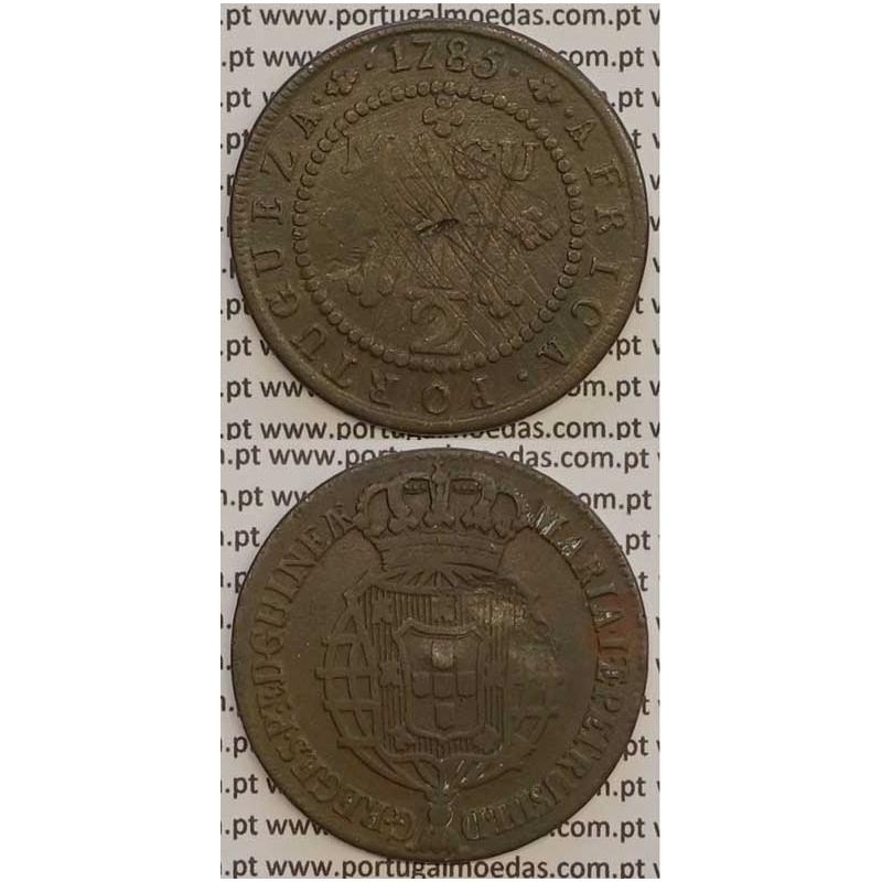 MOEDA 1/2 MACUTA COBRE 1785 (BC) - ANGOLA