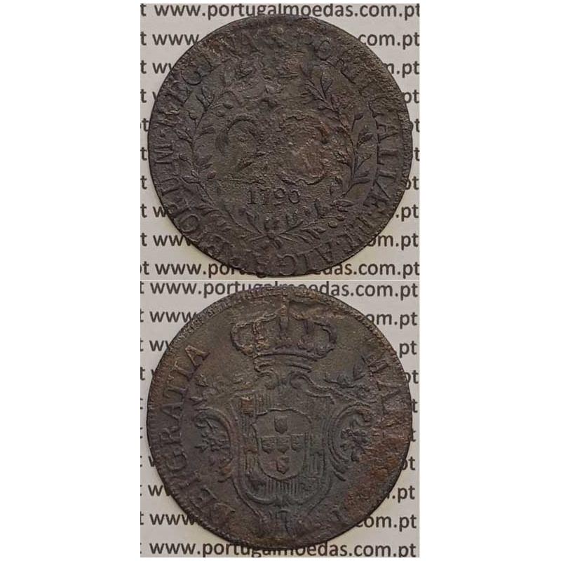 MOEDA 20 RÉIS COBRE 1790 (MBC-) AÇORES - D.MARIA I