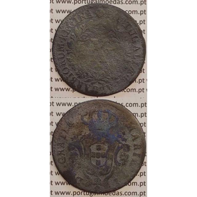 MOEDA X REIS COBRE 1791 (BC-) COROA BAIXA - D. MARIA I