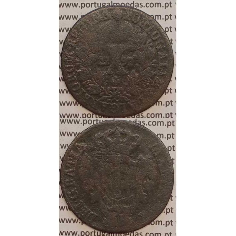 MOEDA X REIS COBRE 1797 (BC-/REG) COROA ALTA - D. MARIA I