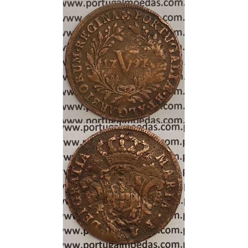 MOEDA V REIS COBRE 1797 (BC) - 26 FRUTOS - D. MARIA I