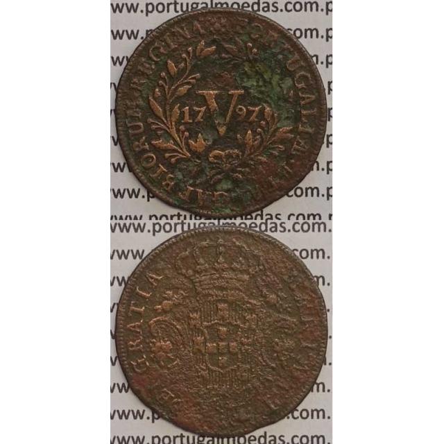 MOEDA V REIS COBRE 1797 (BC+) - 26 FRUTOS - D. MARIA I