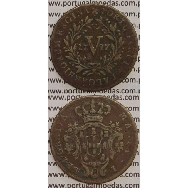 MOEDA V REIS COBRE 1797 (BC+) - 26 FRUTOS - (DIADEMA 2 PONTOS) - D. MARIA I