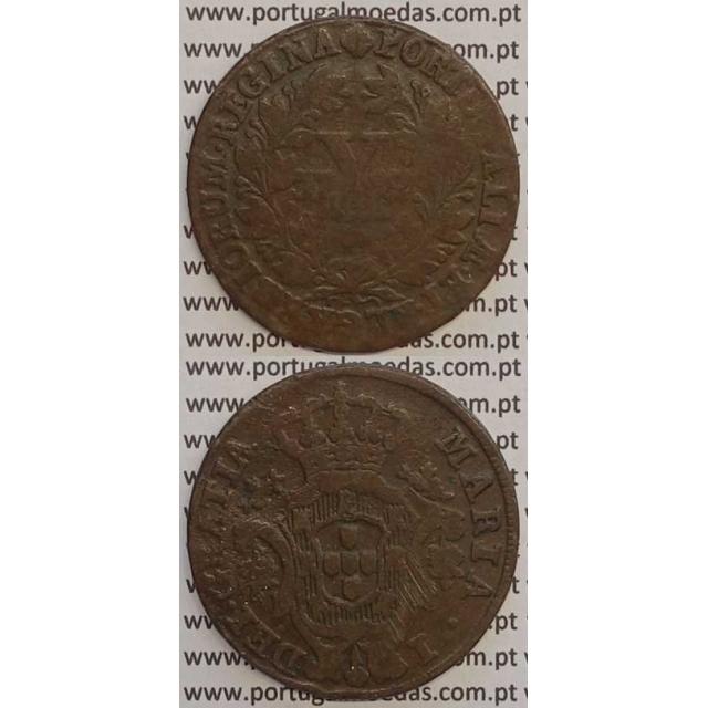 MOEDA X REIS COBRE 1792 (BC) - COROA BAIXA - 30 FRUTOS - D. MARIA I