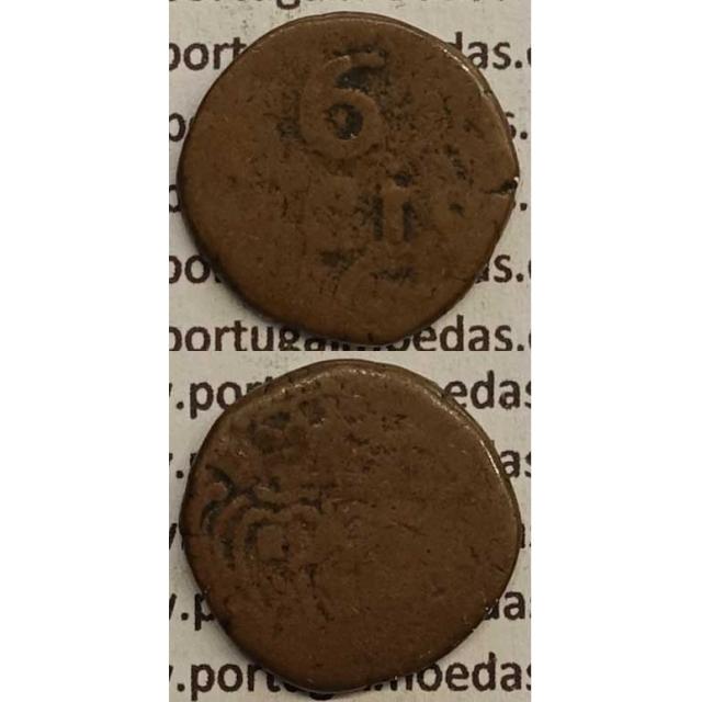 MOEDA 6 RÉIS COBRE 1786-1799 (BC) - ÍNDIA ( 6 RÉIS DADUDDÚ) - D.MARIA I