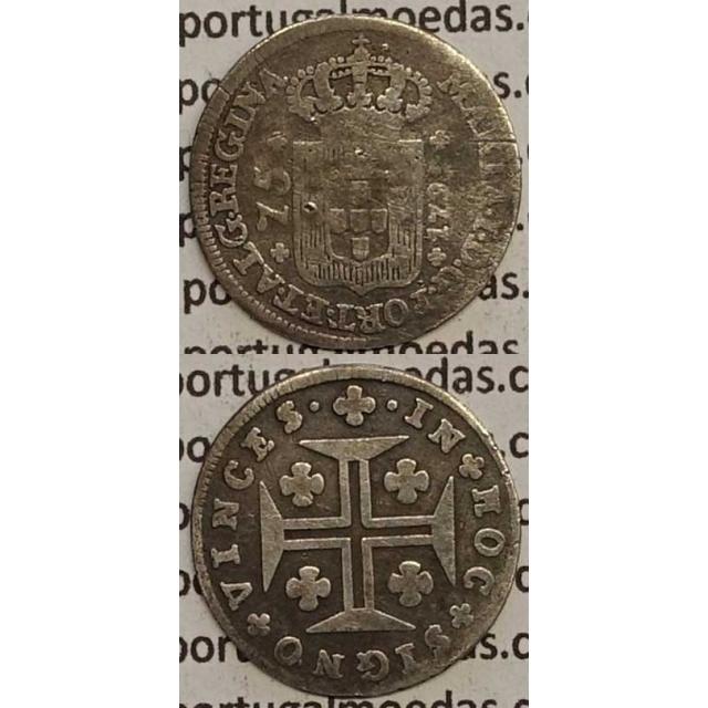 MOEDA 75 RÉIS PRATA 1795 (BC) AÇORES - D.MARIA I