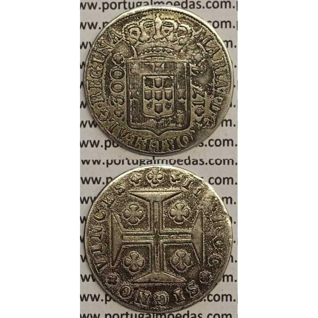 MOEDA 300 RÉIS PRATA 1794 (REG) - AÇORES - D.MARIA I