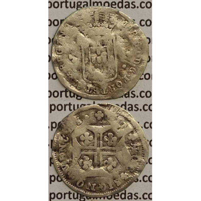 MOEDA 3 VINTENS PRATA 1788-1799 (REG) COROA BAIXA/EIXO HORIZONTAL- D. MARIA I