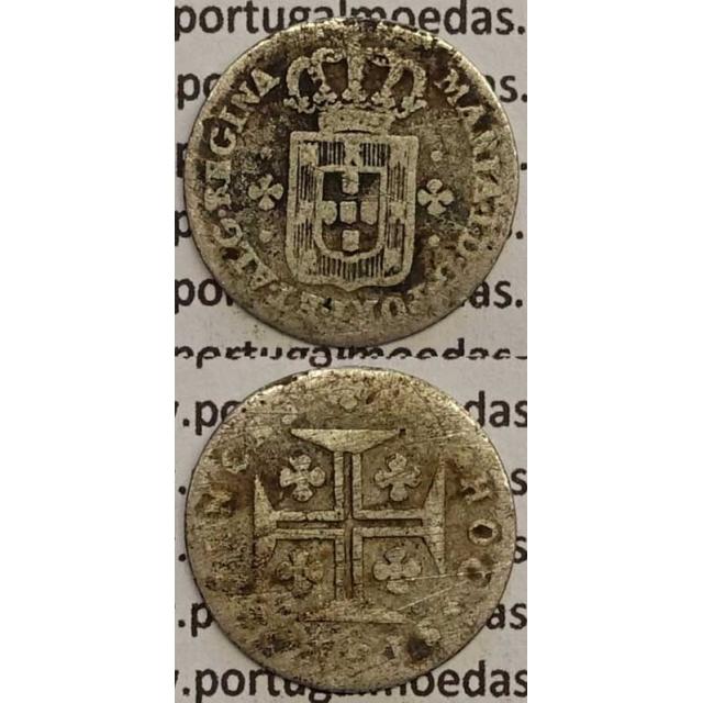 MOEDA 3 VINTENS PRATA 1788-1799 (BC) COROA ALTA / EIXO VERTICAL- D. MARIA I