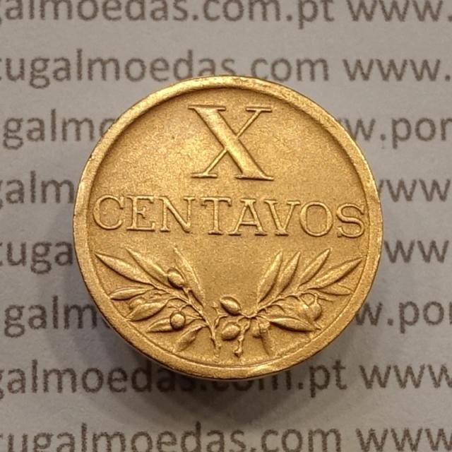 MOEDA DE DEZ CENTAVOS (X CENTAVOS) BRONZE 1942 MBC+/BELA