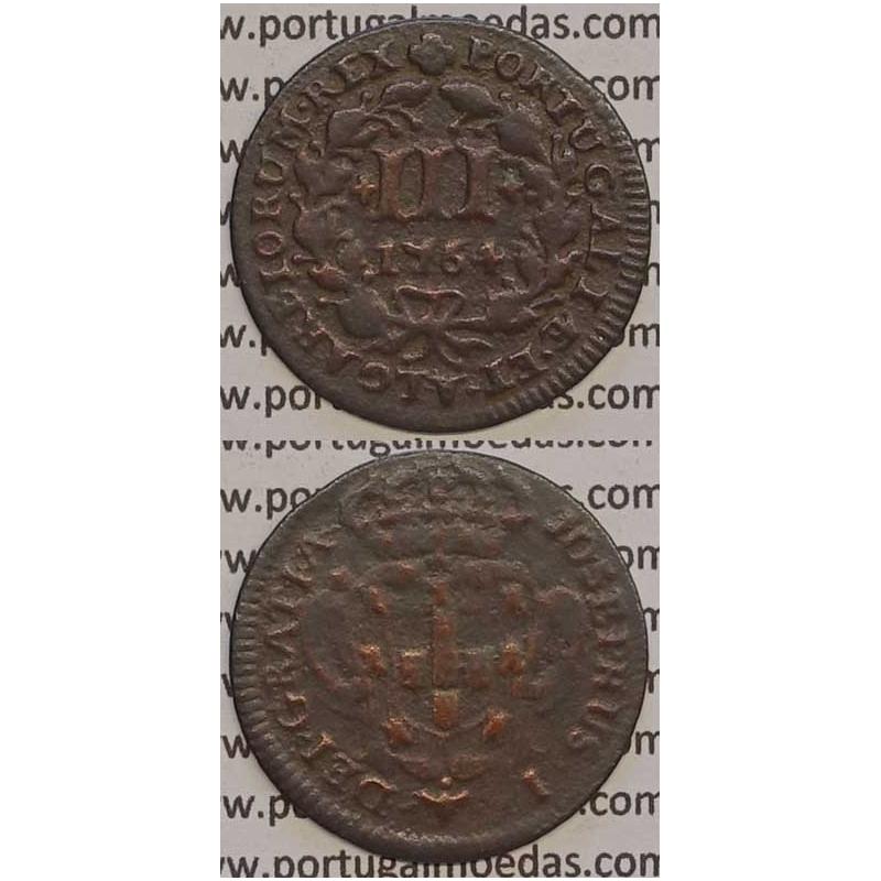 MOEDA DE III REIS COBRE 1764 (MBC) - D. JOSÉ I - JOSEPHUS