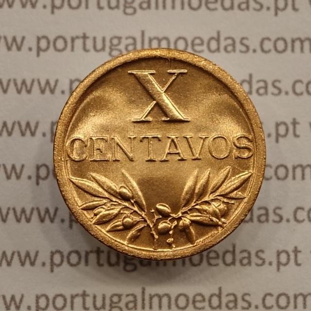 MOEDA DE DEZ CENTAVOS (X CENTAVOS) BRONZE 1945 SOBERBA