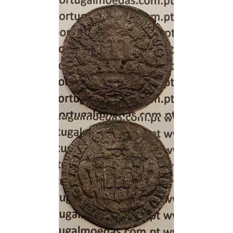 MOEDA DE III REIS COBRE 1764 (BC-) - D. JOSÉ I - JOSEPHUS