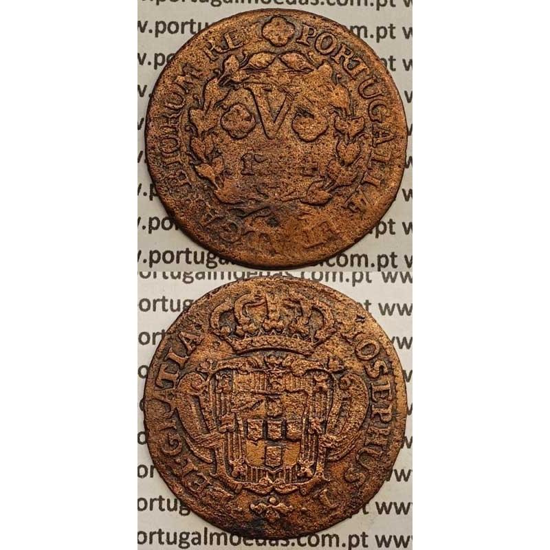 MOEDA V REIS COBRE 1754 (BC-) - D.JOSÉ I - IOSEPHUS