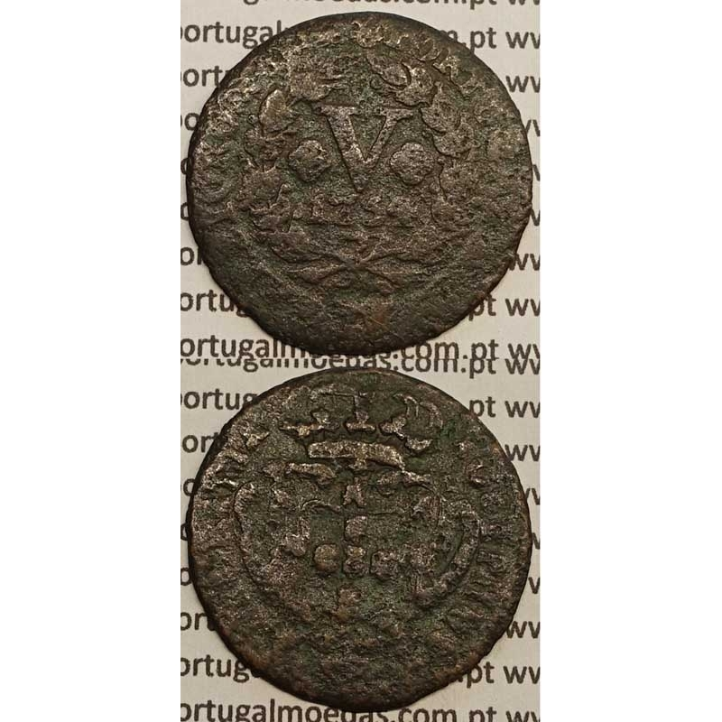 MOEDA V REIS COBRE 1754 (REG) - D.JOSÉ I - IOSEPHUS