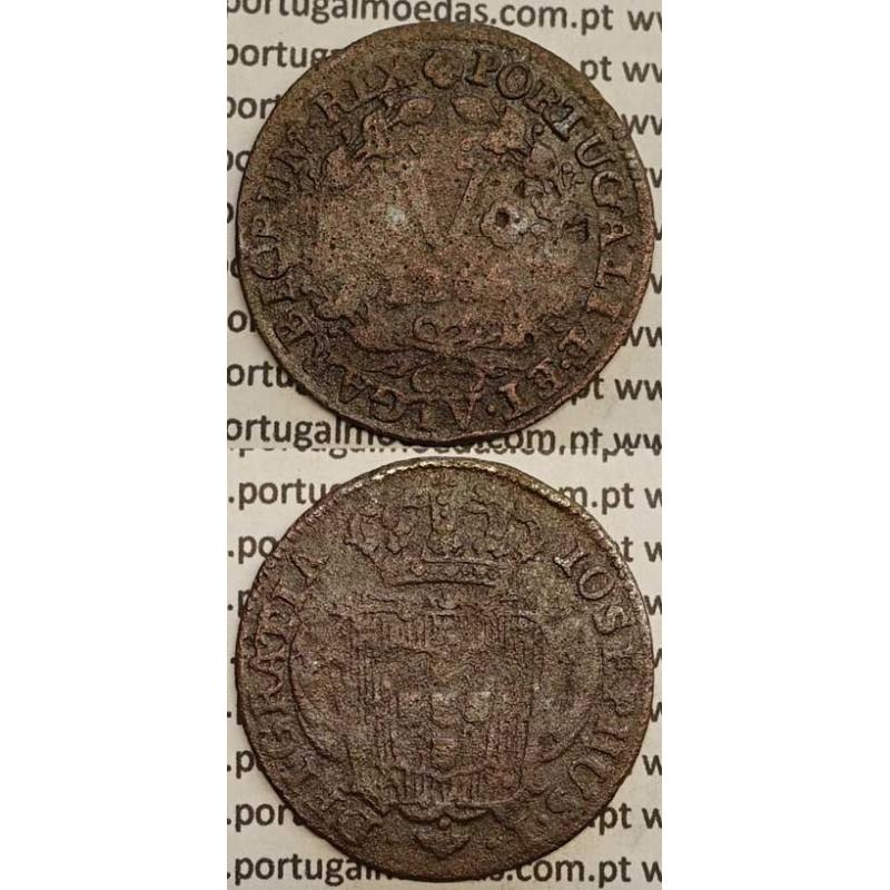 MOEDA V REIS COBRE 1766 (BC-) - D.JOSÉ I - IOSEPHUS