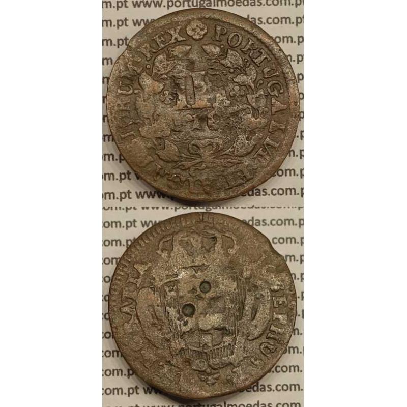 MOEDA DE III REIS COBRE 1764 (REG) - LEGENDA AFASTADA DA COROA - JOSEPHUS