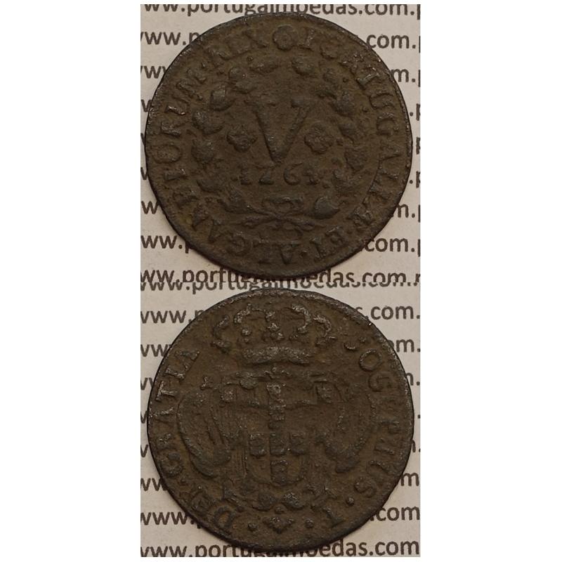 MOEDA V REIS COBRE 1764 (BC+) - D.JOSÉ I - JOSEPHUS - MARQUILHA GRANDE
