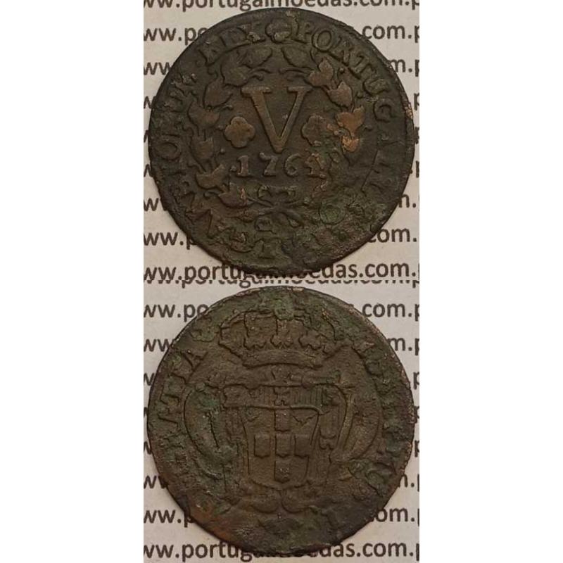 MOEDA V REIS COBRE 1764 (MBC) - D.JOSÉ I - IOSEPHUS