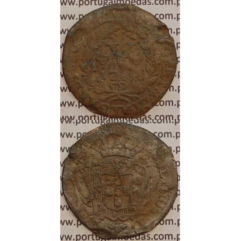 MOEDA V REIS COBRE 1764 (REG) - D.JOSÉ I - IOSEPHUS