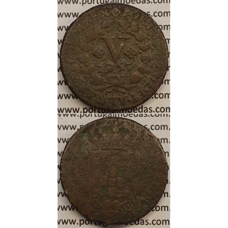 MOEDA V REIS COBRE 1757 (BC-) - D.JOSÉ I - IOSEPHUS