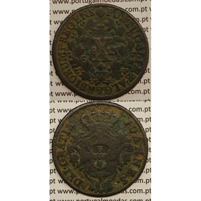 MOEDA X REIS COBRE 1813 (BC+)