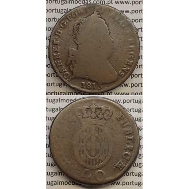 MOEDA PATACO (40 RÉIS) BRONZE 1813 (BC) LEGENDA JUNTA