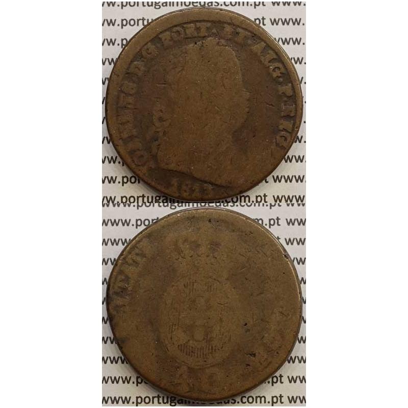 MOEDA PATACO (40 RÉIS) BRONZE 1813 (REG) LEGENDA JUNTA
