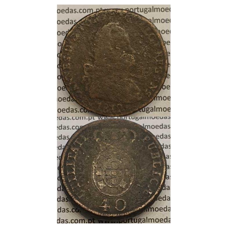 MOEDA PATACO (40 RÉIS) BRONZE 1812 (BC-) LEGENDA SEPARADA
