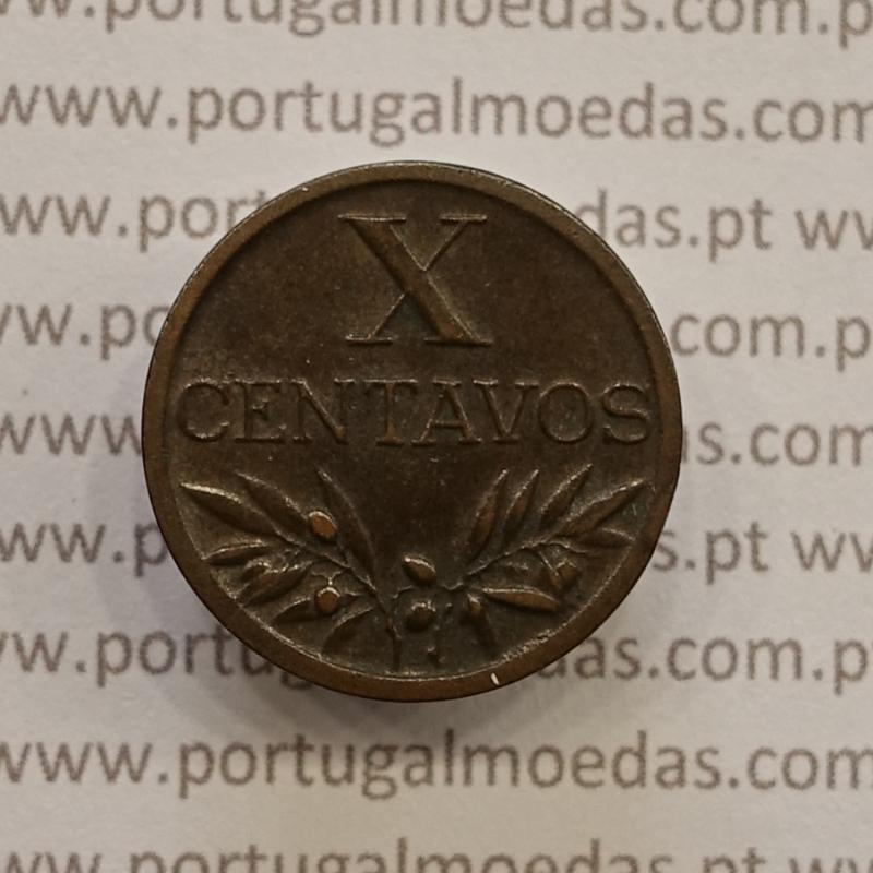MOEDA DE DEZ CENTAVOS (X CENTAVOS) BRONZE 1946 MBC+/BELA-