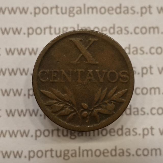 MOEDA DE DEZ CENTAVOS (X CENTAVOS) BRONZE 1947 MBC