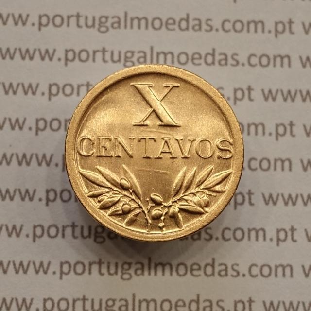 MOEDA DE DEZ CENTAVOS (X CENTAVOS) BRONZE 1949 SOBERBA